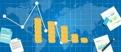 economic financial down crisis recession gdp drop