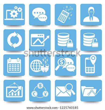 Economy and marketing vector icon set