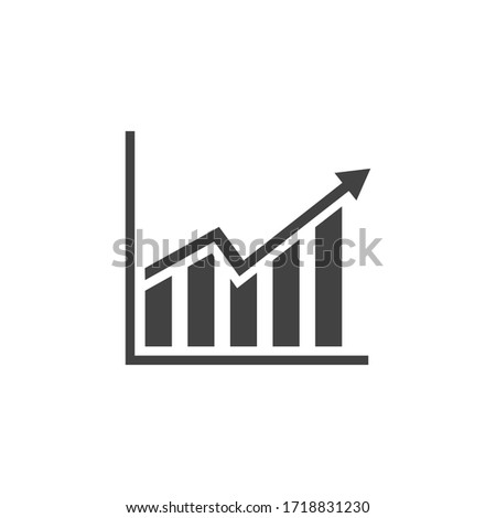 Economy growth icon, infographic, growth falling economy, business, finance vector illustration