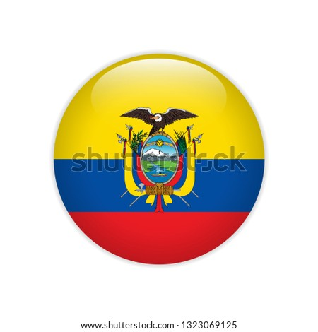 Ecuador flag on button