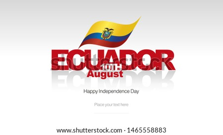 Ecuador Independence Day flag logo icon banner
