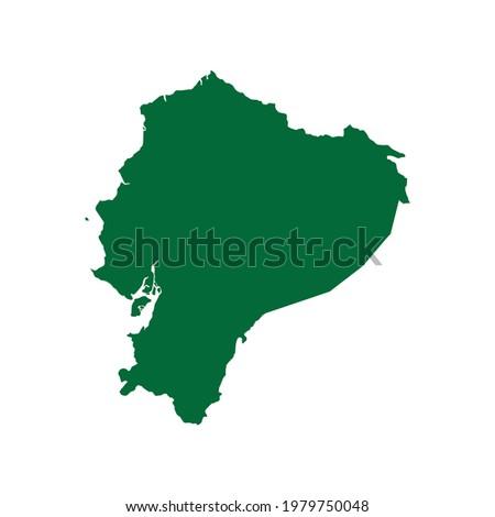 Ecuador Map. Ecuador Map illustration. Ecuador map flat chart. Ecuador map silhouette ストックフォト ©