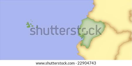 Ecuador Vector Map Ecuador Vector Map