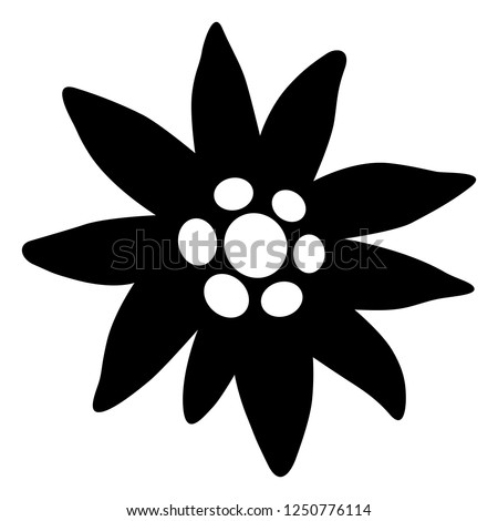 edelweiss icon  black and white