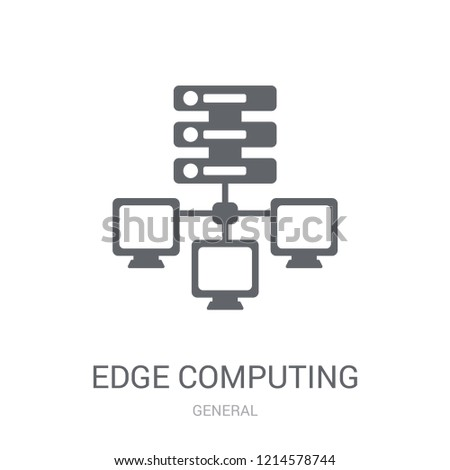 edge computing icon. Trendy edge computing logo concept on white background from General collection. Suitable for use on web apps, mobile apps and print media.