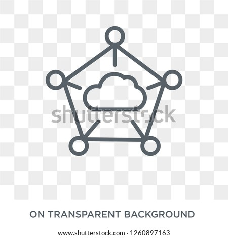 edge computing icon. Trendy flat vector edge computing icon on transparent background from general  collection. High quality filled edge computing symbol use for web and mobile