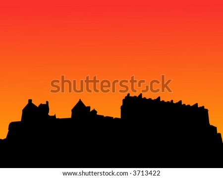 edinburgh castle scotland at
