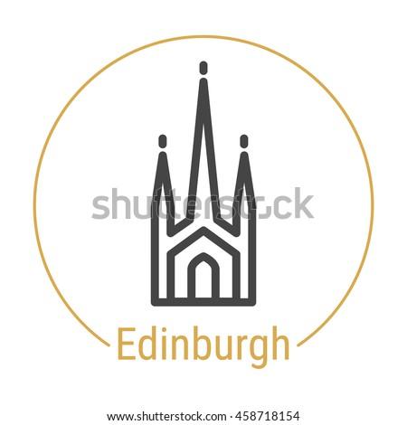 edinburgh  scotland  outline