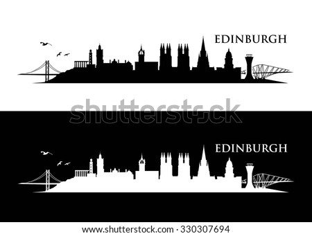 Edinburgh skyline - vector illustration