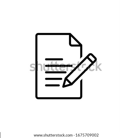 Edit file icon, note, sign up icon vector illustration
