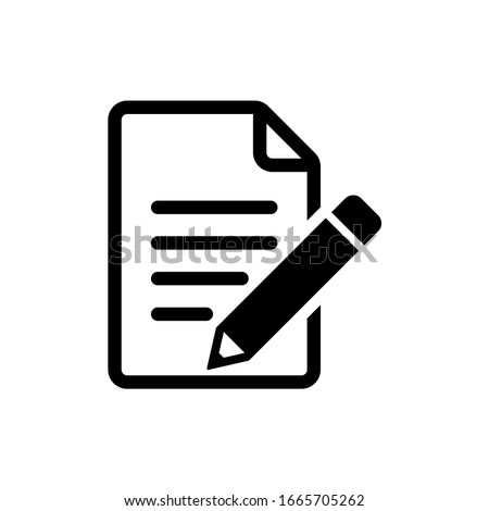 Edit file icon, sign up Icon vector illustration Stock photo ©