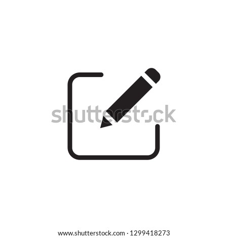 Edit Icon. Pencil icon for simple flat style ui design - Vector #1299418273