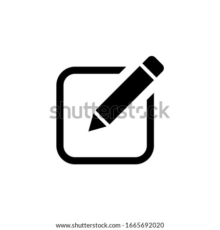 Edit icon, Pencil icon, sign up icon vector isolated Stock photo ©