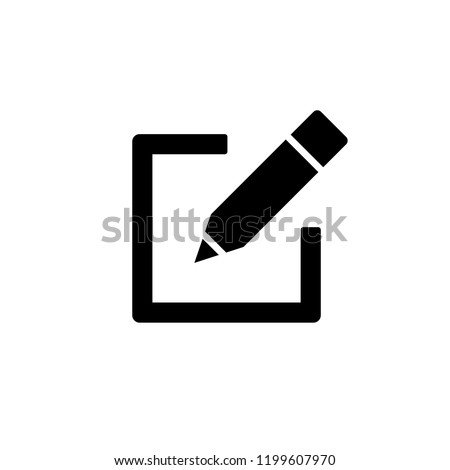 Edit icon, Pencil icon, sign up Icon vector. symbol for web site Computer and mobile vector. Stock photo ©