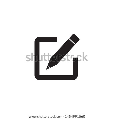 Edit icon, Pencil icon, sign up Icon vector. symbol for web site Computer and mobile vector. #1454991560