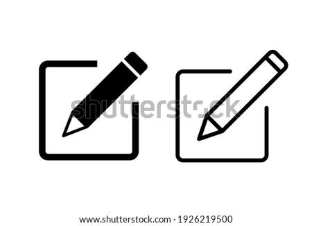 Edit icon set. edit document icon. edit text icon. pencil. sign up Stock photo ©