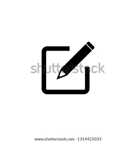 Edit icon, sign up Icon vector #1314425033