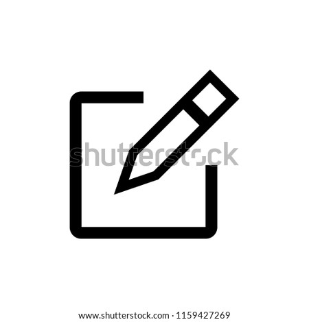 Edit icon vector. Pencil icon. sign up Icon vector #1159427269