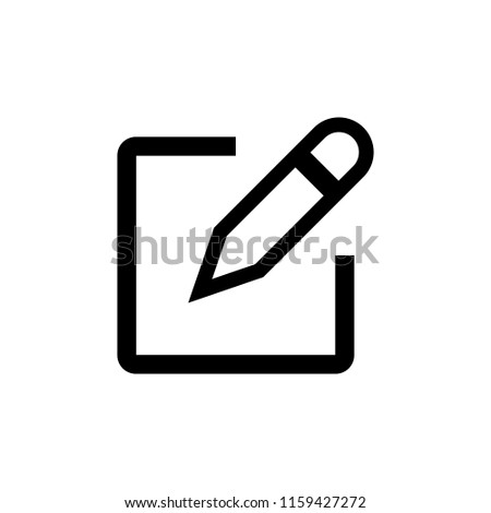 Edit icon vector. Pencil icon. sign up Icon vector #1159427272
