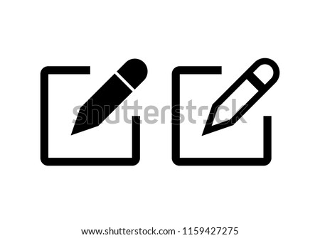 Edit icon vector. Pencil icon. sign up Icon vector