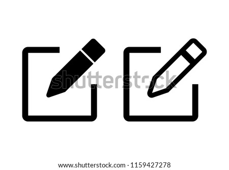 Edit icon vector. Pencil icon. sign up Icon vector #1159427278