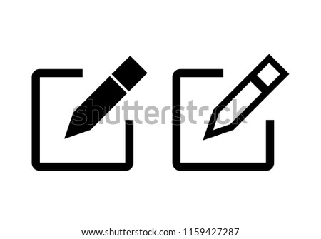 Edit icon vector. Pencil icon. sign up Icon vector #1159427287