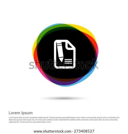 edit icon  white pictogram icon