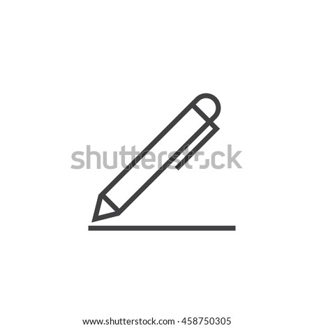 Edit line icon, pen outline vector logo, linear pictogram isolated on white, pixel perfect illustration