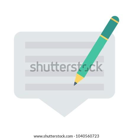 edit pencil document  #1040560723