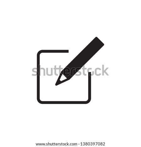 edit, sign up, pencil icon vector #1380397082
