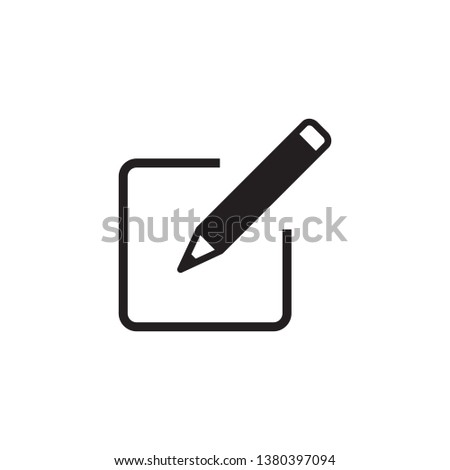 edit, sign up, pencil icon vector #1380397094