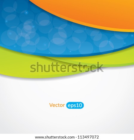 Editable abstract vector background with colorful design and place for your content