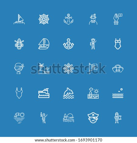 editable 25 anchor icons for