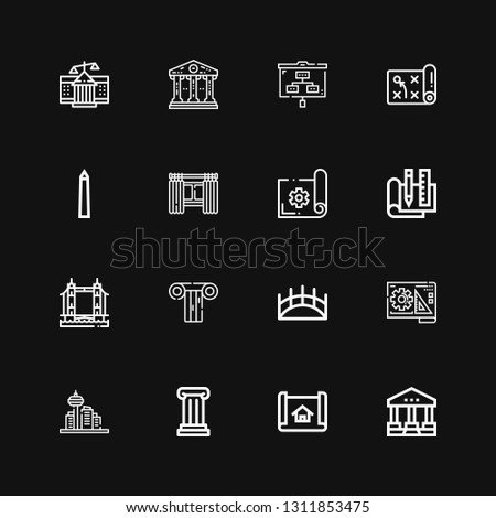 editable 16 architectural icons