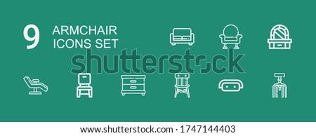 editable 9 armchair icons for