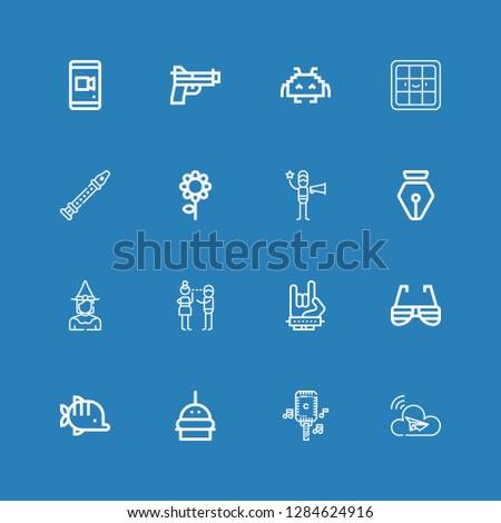 editable 16 art icons for web