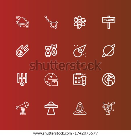 editable 16 astronomy icons for