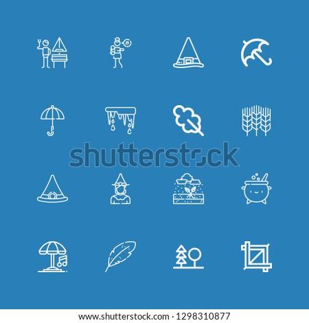 editable 16 autumn icons for