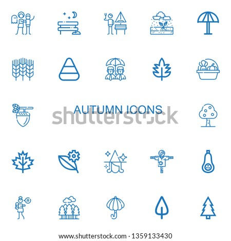 editable 22 autumn icons for