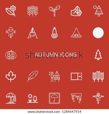 editable 22 autumn icons for