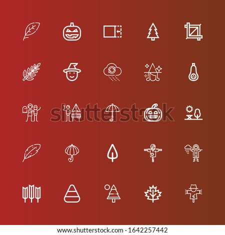 editable 25 autumn icons for