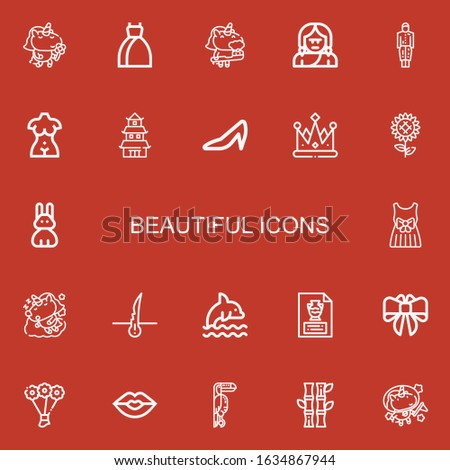 editable 22 beautiful icons for