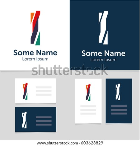 Rainbow business card download free vector art stock graphics editable business card template with i letter logoctor illustrationeps10 accmission Choice Image