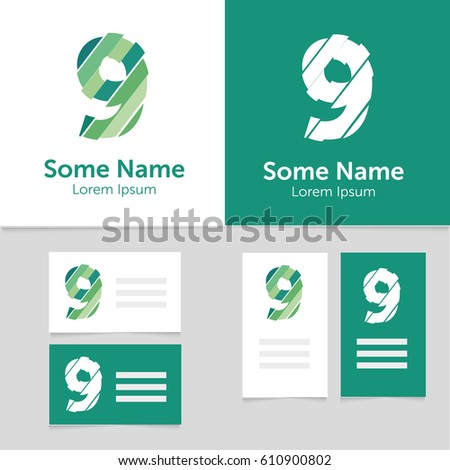 Rainbow business card download free vector art stock graphics editable business card template with 9 number logoctor illustrationeps10 wajeb Choice Image