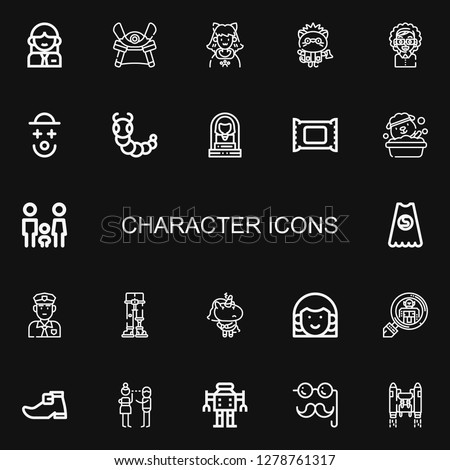 editable 22 character icons for