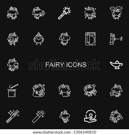 editable 22 fairy icons for web