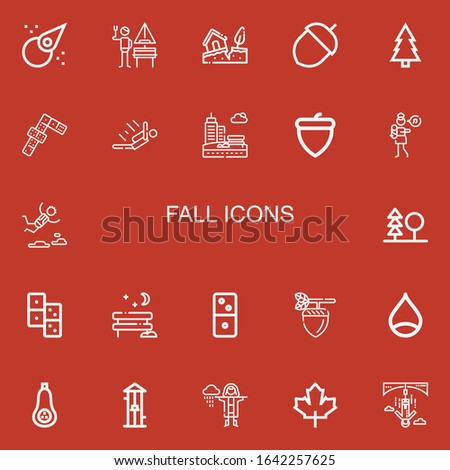 editable 22 fall icons for web