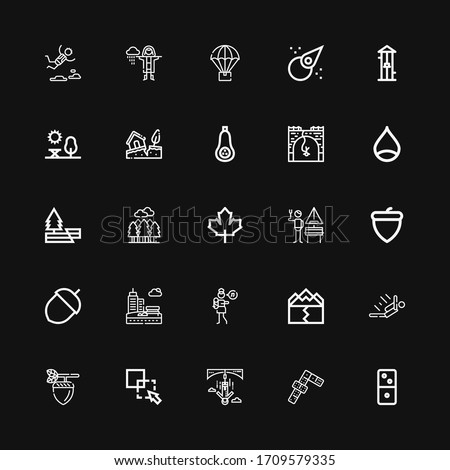 editable 25 fall icons for web