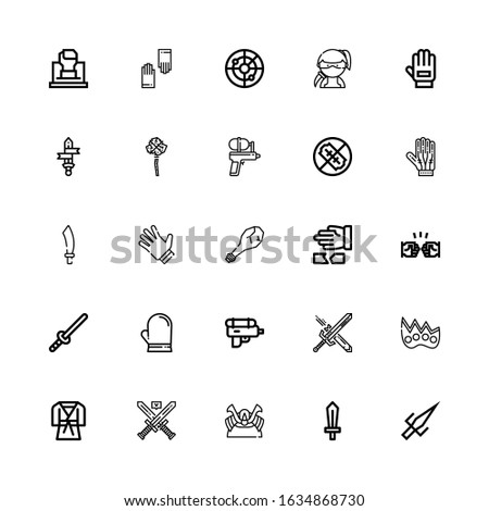 editable 25 fight icons for web
