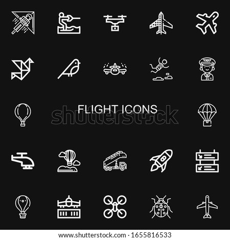 editable 22 flight icons for